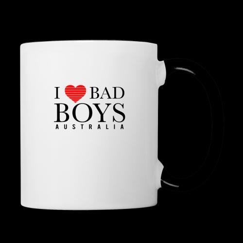 I LOVE BADBOYS - Contrast Coffee Mug