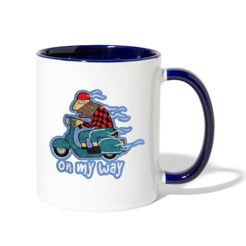 On my way. - Contrast Coffee Mug