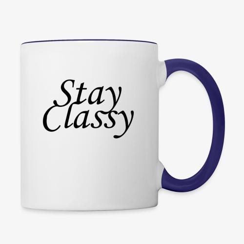 Stay Classy - Contrast Coffee Mug