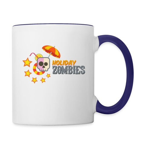 Holiday Zombies logo - Contrast Coffee Mug