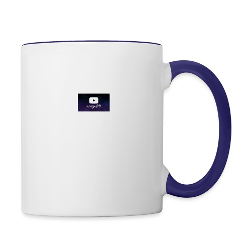 my life is youtube poster - Contrast Coffee Mug
