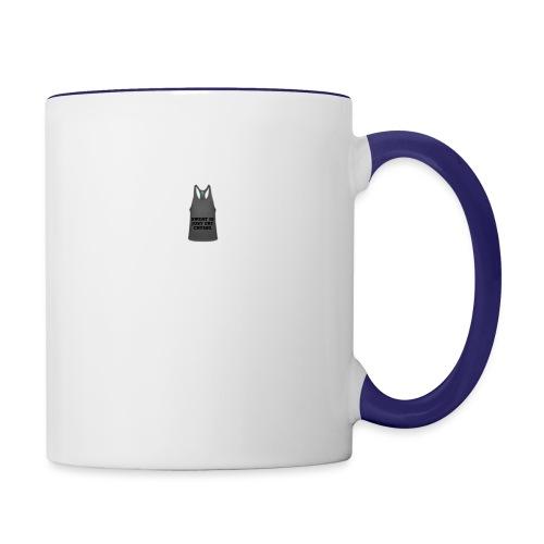 Sweat is just fat crying - Contrast Coffee Mug