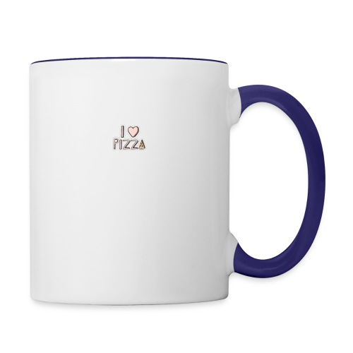 I love pizza button - Contrast Coffee Mug