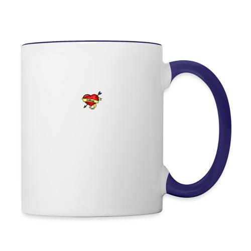 i love mom - Contrast Coffee Mug