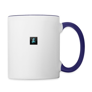 abstract blue dragons blue dragon logos amd 2560x1 - Contrast Coffee Mug
