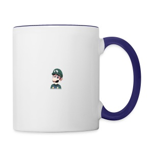 Luigi from (Mario)The Music Box By Team Ari - Contrast Coffee Mug