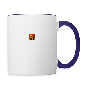 BIG CRAZY APPLE LOGO - Contrast Coffee Mug