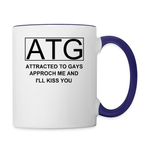 ATG Attracted to gays - Contrast Coffee Mug