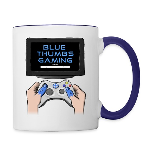 Blue Thumbs Gaming: Gamepad Logo - Contrast Coffee Mug