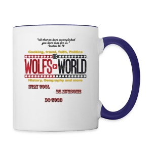 TheWolfsWorld Merch - Contrast Coffee Mug