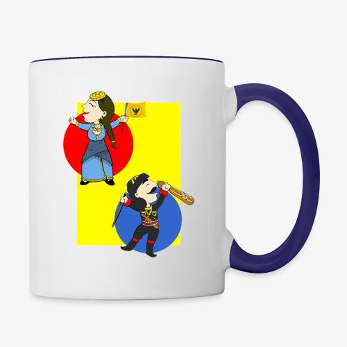 Cartoon - Pontios/lyra & Pontia/flag - Contrast Coffee Mug