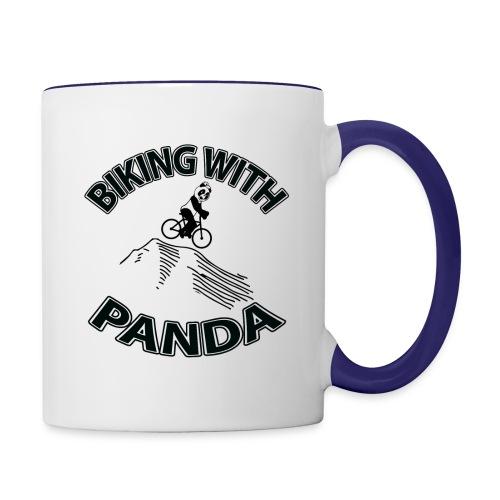 Biking with Panda - Contrast Coffee Mug