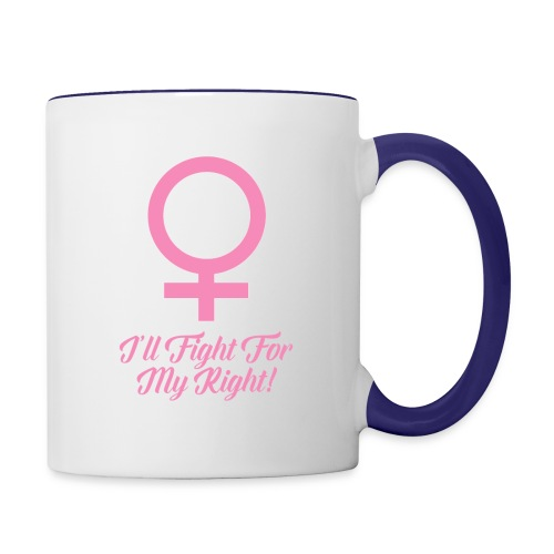 Women's Rights Female Symbol - Contrast Coffee Mug