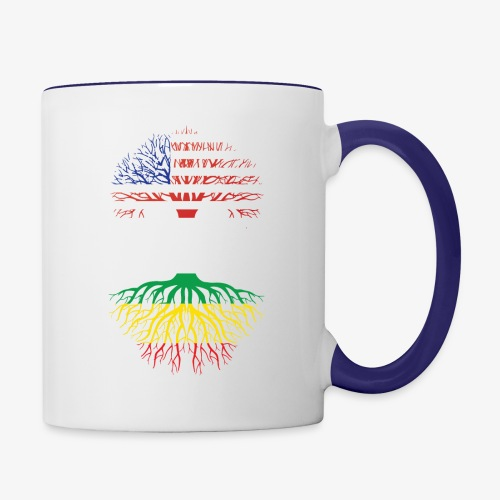 American Grown With African Roots T-Shirt - Contrast Coffee Mug
