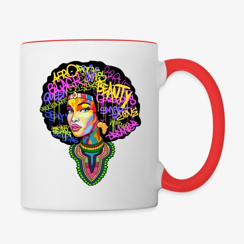 Afro Queen Dashiki - Contrast Coffee Mug