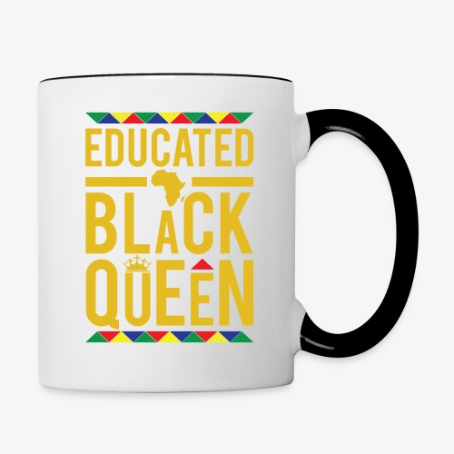Educated Black Queen - Contrast Coffee Mug
