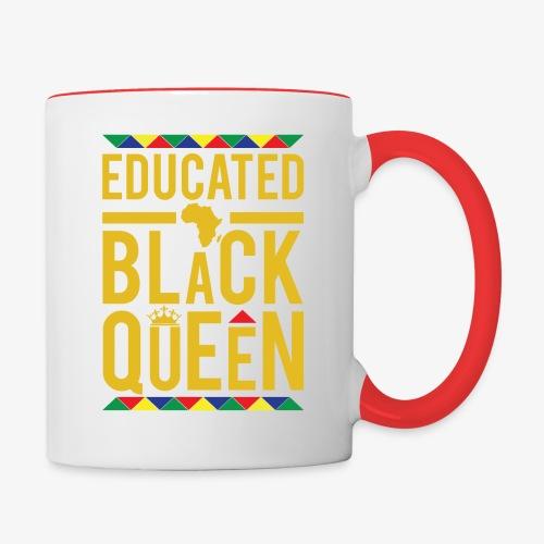 Educated Black Queen - Contrast Coffee Mug
