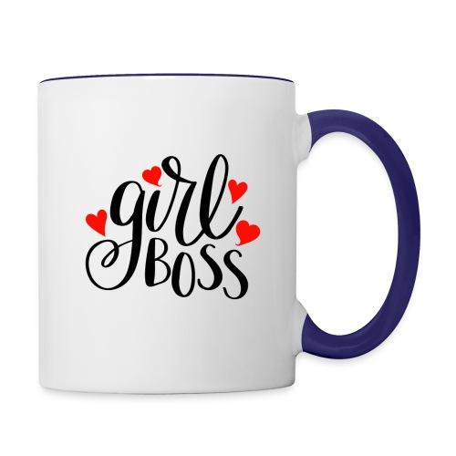 girl boss - Contrast Coffee Mug