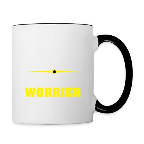 Be a warrior not a worrier - Contrast Coffee Mug