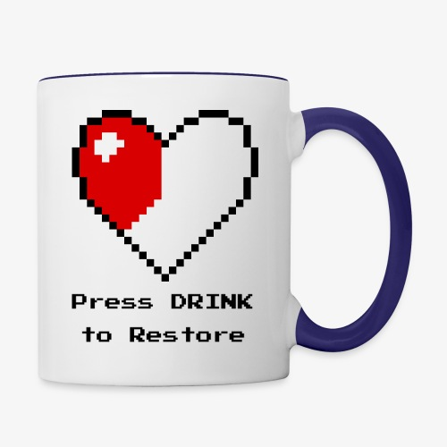 Press DRINK to Restore - Contrast Coffee Mug