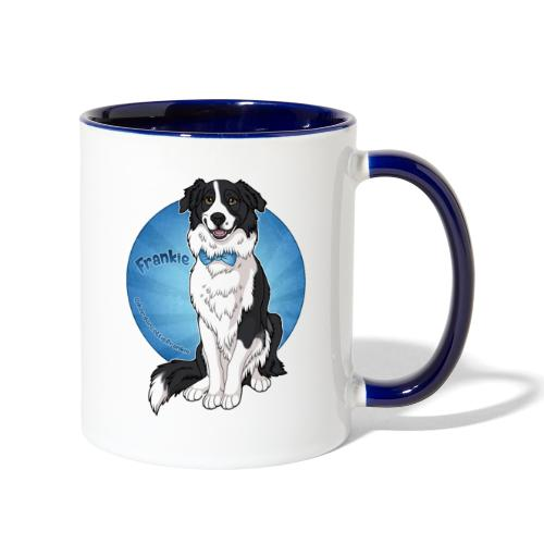 Border Collie Frankie Full Colour With Name - Contrast Coffee Mug