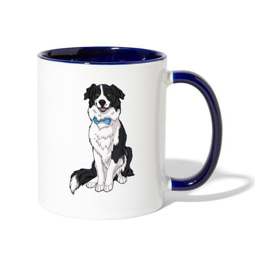 Border Collie Frankie - Transparent Background - Contrast Coffee Mug