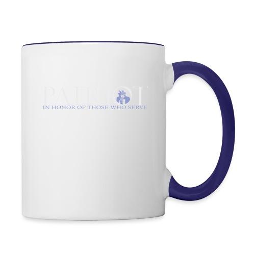 PATRIOT-SAM-USA-LOGO-REVERSE - Contrast Coffee Mug