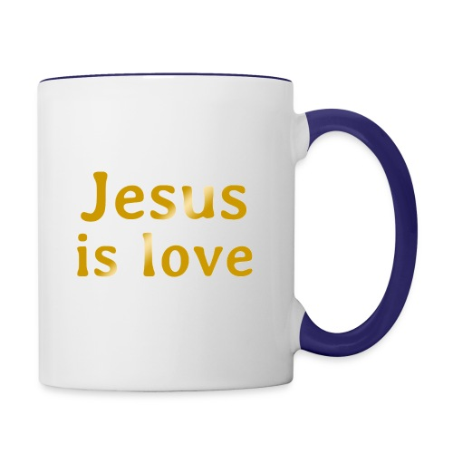 Jesus is love - Contrast Coffee Mug