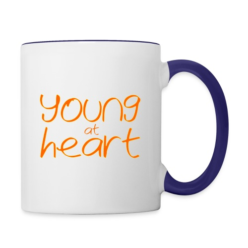 young at heart - Contrast Coffee Mug