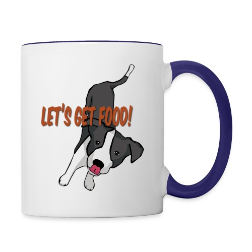 Foodie Dog Border Collie - Contrast Coffee Mug