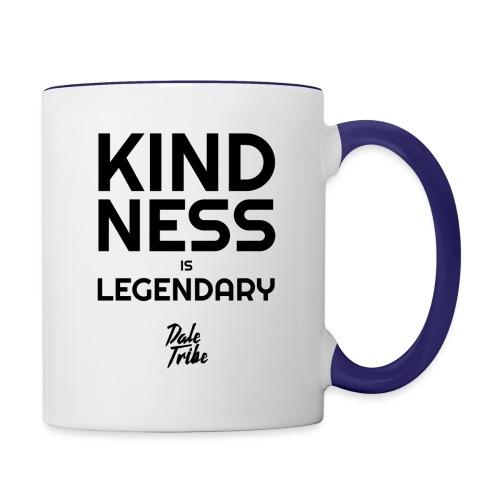 KINDNESS IS LEGENDARY BLACK - Contrast Coffee Mug