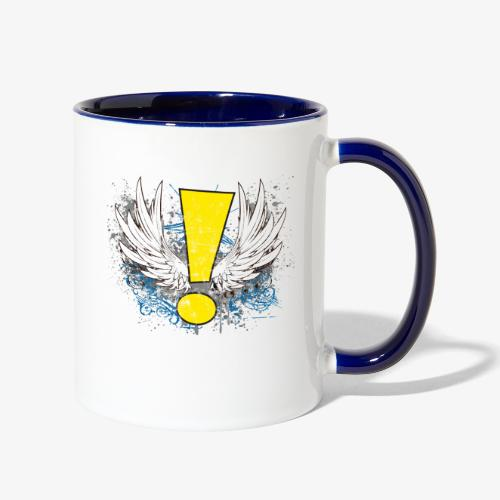 Winged Whee! Exclamation Point - Contrast Coffee Mug