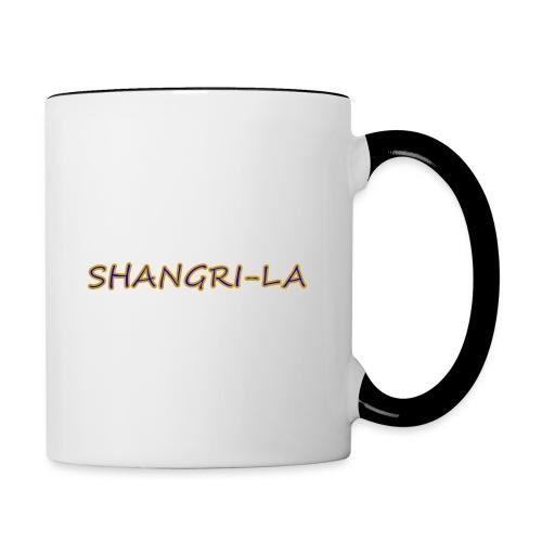 Shangri La gold blue - Contrast Coffee Mug