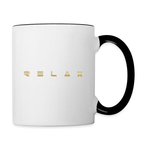 Relax gold - Contrast Coffee Mug
