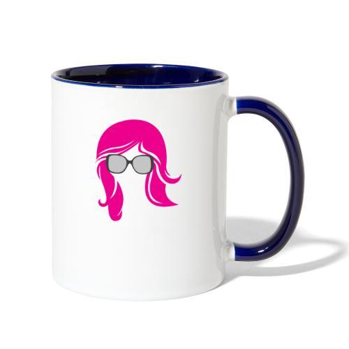 Geo Rockstar (her) - Contrast Coffee Mug
