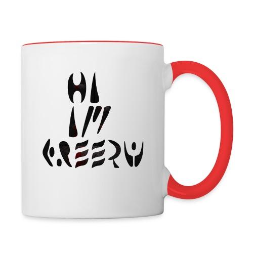 hi im creepy - Contrast Coffee Mug