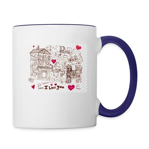 parís lovers - Contrast Coffee Mug