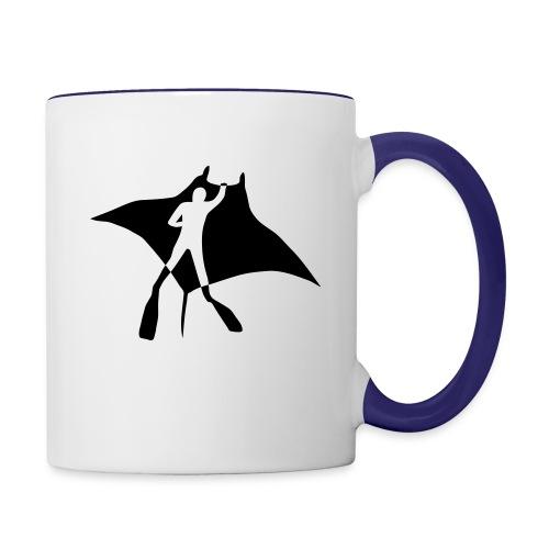manta ray sting scuba diving diver dive fish ocean - Contrast Coffee Mug