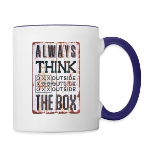 Always think outside the box - Contrast Coffee Mug