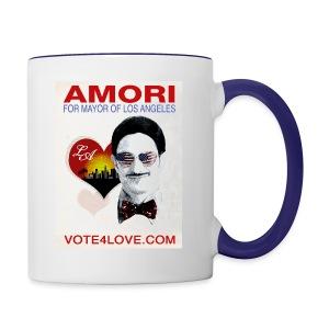 Amori for Mayor of Los Angeles eco friendly shirt - Contrast Coffee Mug