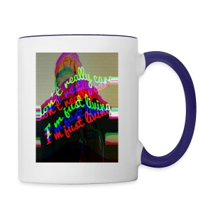 I don't really care. I'm Just Living - Contrast Coffee Mug