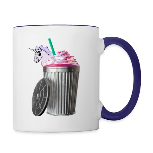 trash brigade unicorn - Contrast Coffee Mug