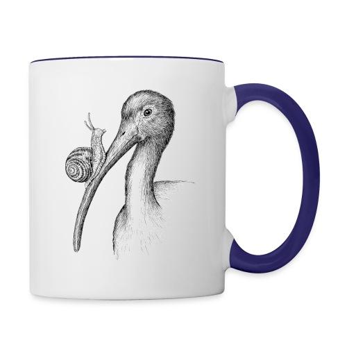 Ibis with Snail by Imoya Design - Contrast Coffee Mug