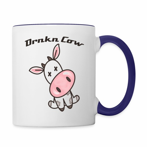Classic Drunken Cow - Contrast Coffee Mug