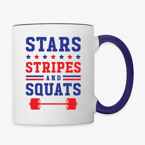 Stars, Stripes And Squats - Contrast Coffee Mug