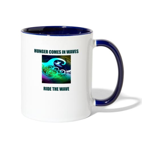 Hunger Comes In Waves - Contrast Coffee Mug