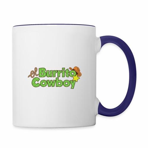 El Burrito Cowboy LOGO - Contrast Coffee Mug
