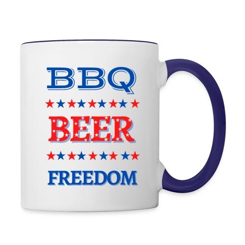 BBQ BEER FREEDOM - Contrast Coffee Mug