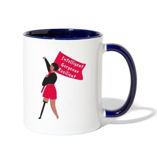 Intelligent Gorgeous Resilient - Contrast Coffee Mug