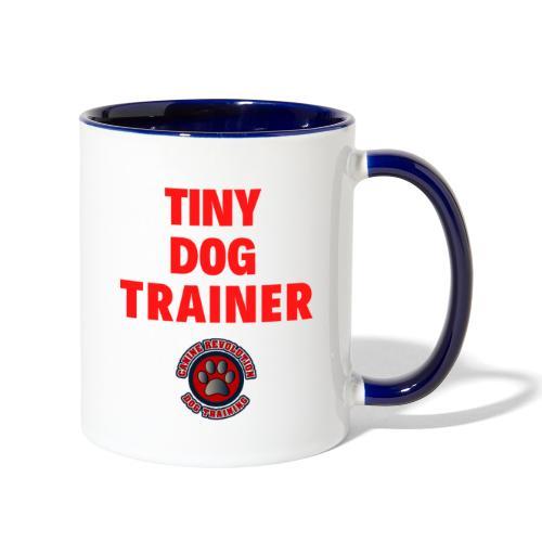 Tiny Dog Trainer - Contrast Coffee Mug